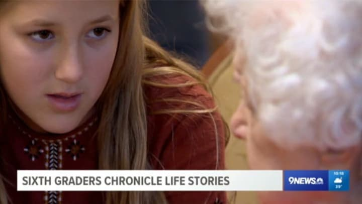 Student and Clermont Park resident share life stories