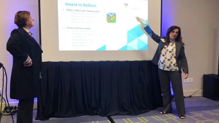 Pam Sullivan presenting on CLC