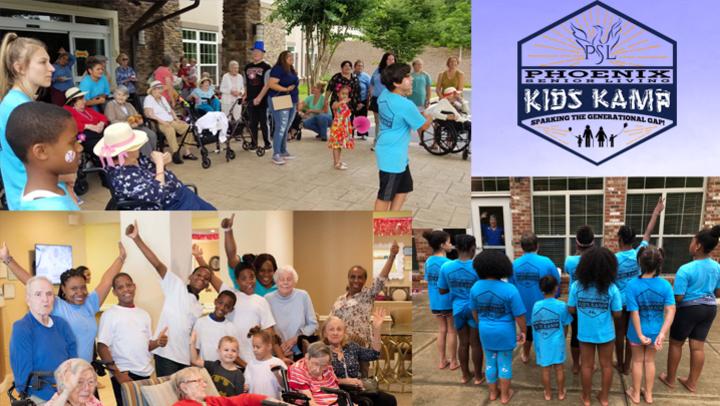 4th Year of Kids Kamps at Phoenix Senior Living
