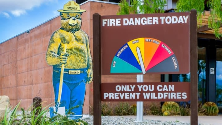 Fire Danger Meter at Moderate Level