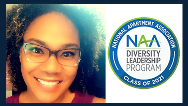 JMG Realty, Inc. is pleased to announce that Property Manager Samantha Harvey is one of fifteen candidates selected nationally by the National Apartment Association to be a member of their Diversity Leadership Program for 2021.