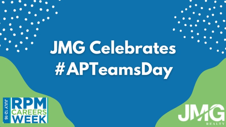 Please join JMG Realty, Inc. as we celebrate the second-annual Apartment Onsite Teams Day and show our appreciation to our onsite teams and the rental housing industry