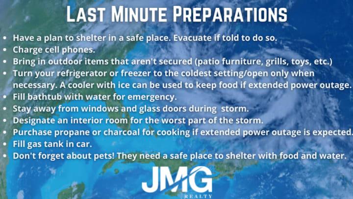 Hurricane Preparedness Tips from JMG