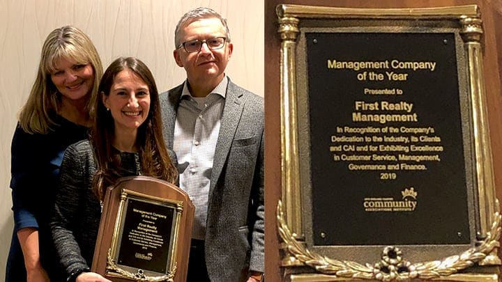 Acceptance of the 2019 CAI New England Management Company of the Year Award