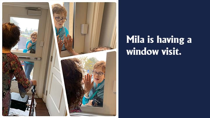 Mila's window visit