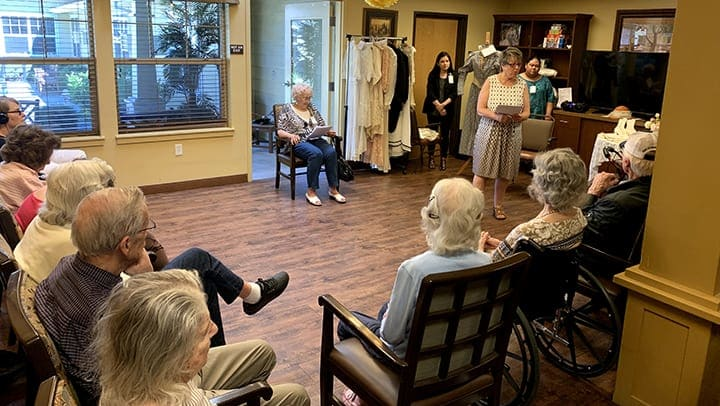 Memory Care residents share their wedding gowns