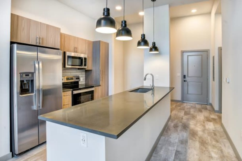 Modern Kitchen at The District Flats in West Palm Beach, Florida