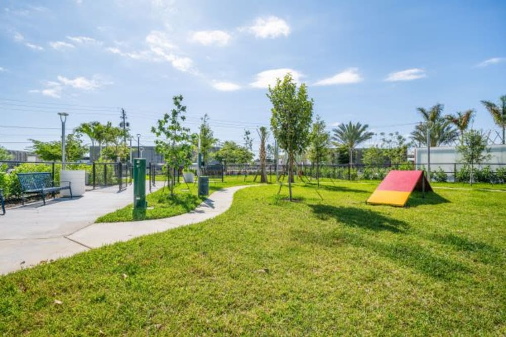 The District Flats offers a Dog Park in West Palm Beach, Florida