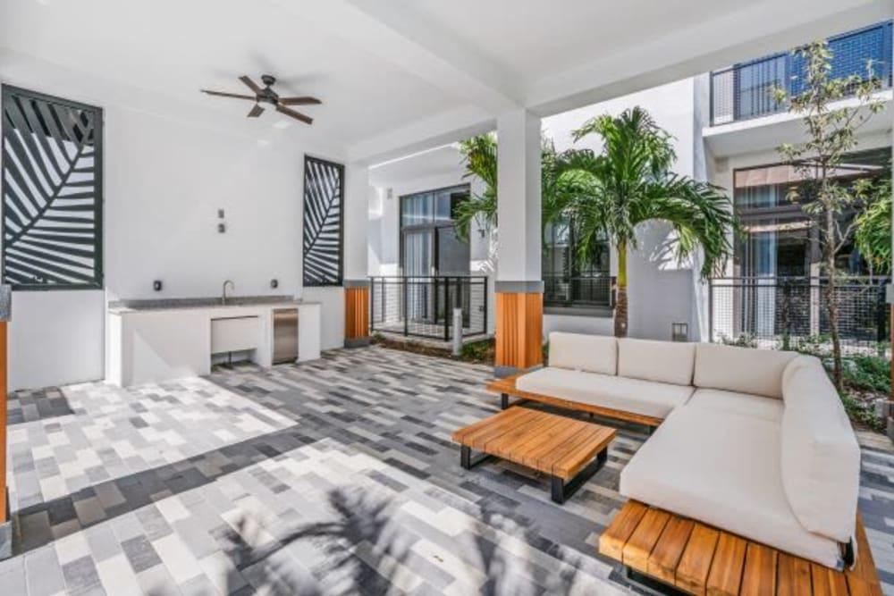 Outdoor Lounge at The District Flats in West Palm Beach, Florida