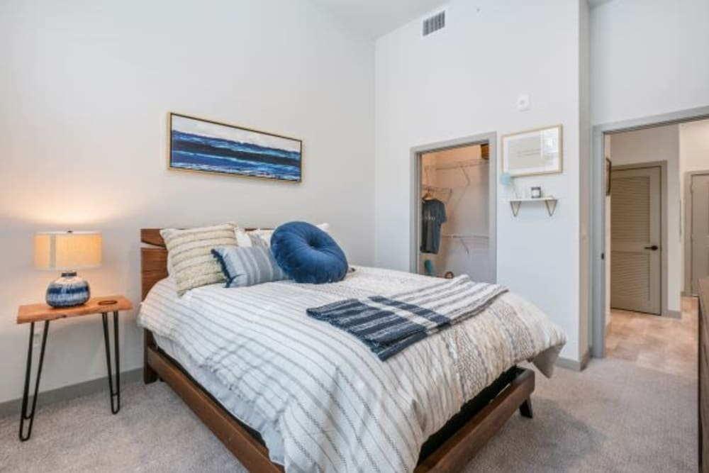 Beautiful Bedroom at The District Flats in West Palm Beach, Florida