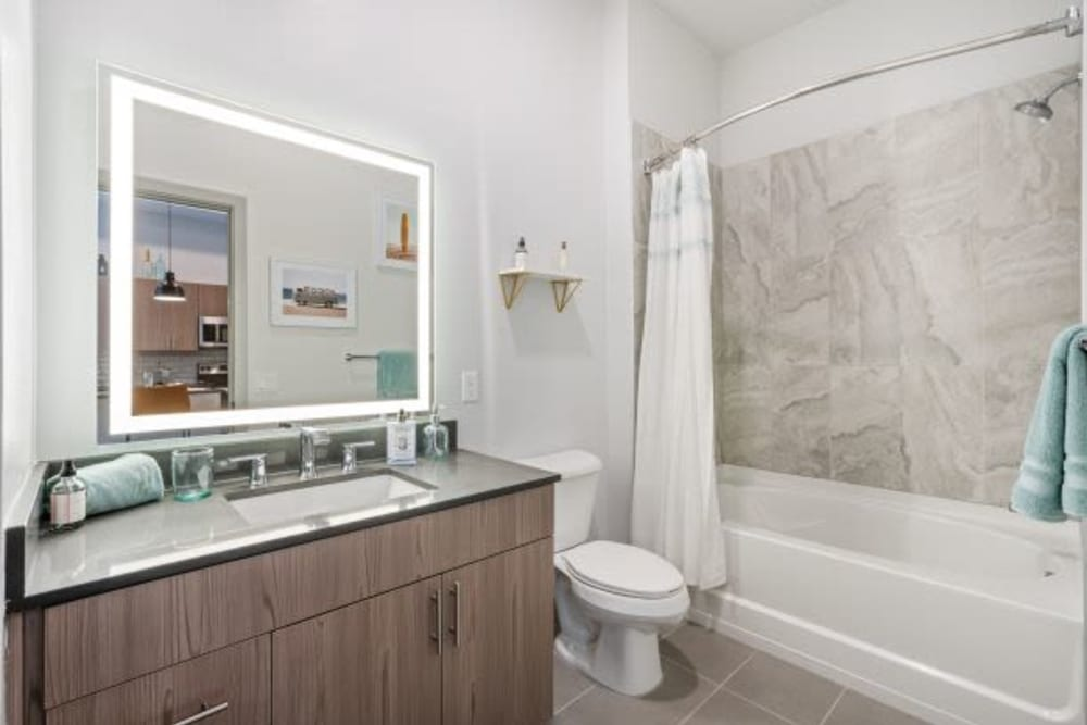 Bathroom at The District Flats in West Palm Beach, Florida