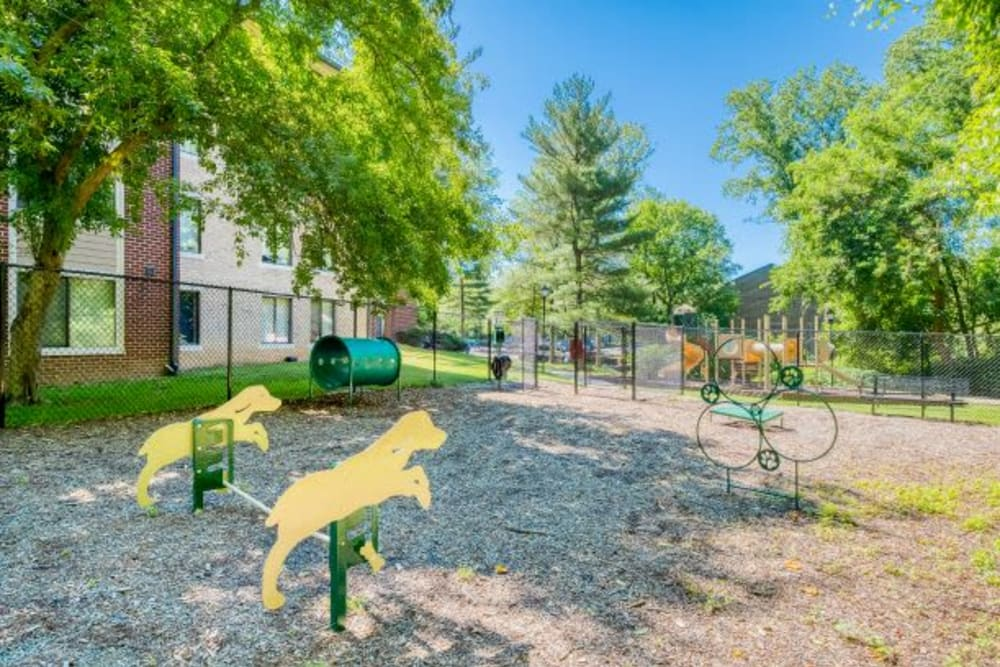 Dog park at The Timbers at Long Reach Apartments in Columbia , Maryland