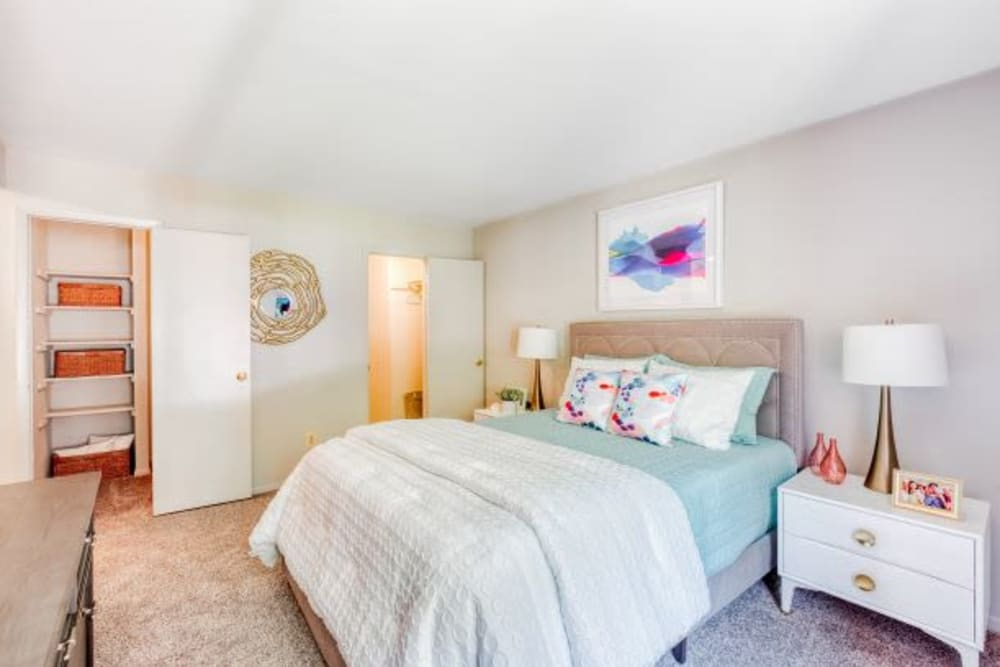 Primary Bedroom at The Timbers at Long Reach Apartments in Columbia , Maryland