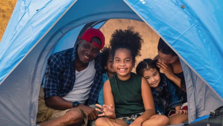 Resident family camping near Legends at White Oak near Ooktewah, Tennessee