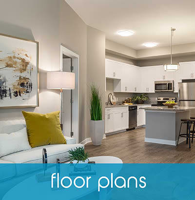 Floor plans at CitySide Apartments