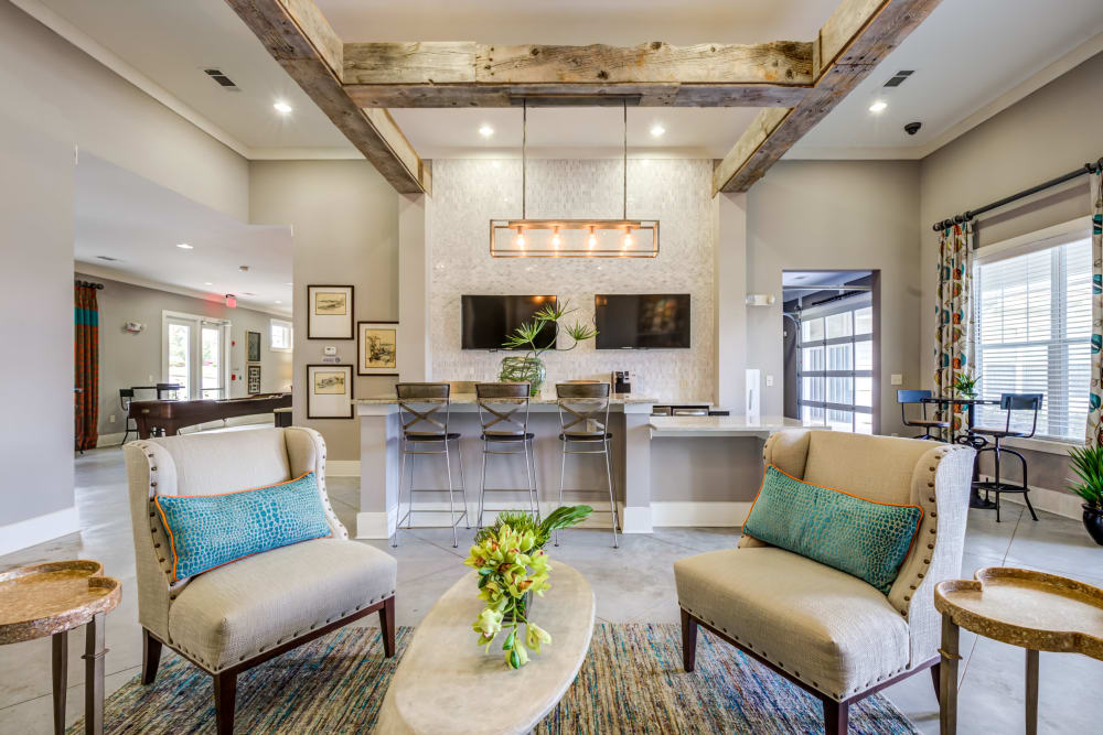 Clubhouse seating at Ansley Commons Apartment Homes in Ladson, South Carolina