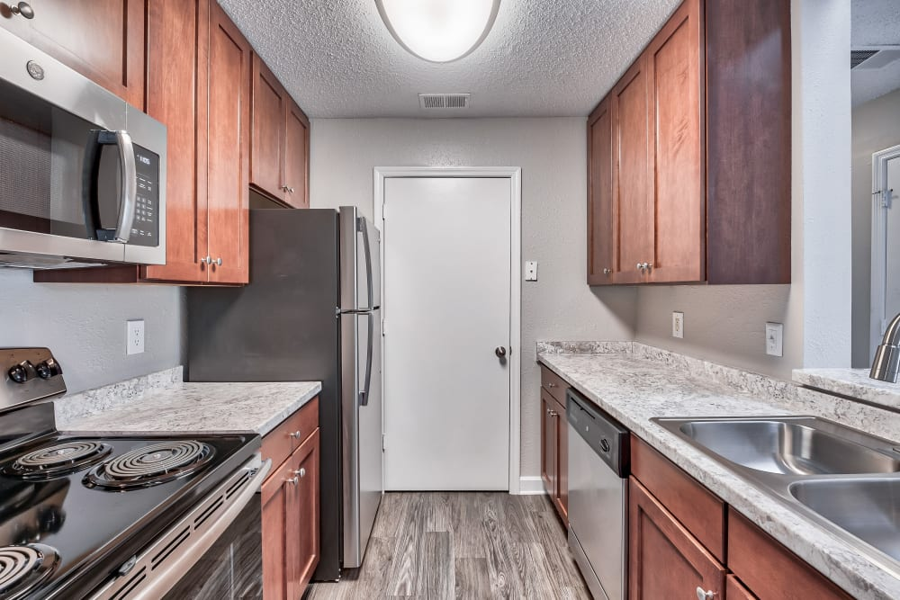 Kitchen at Copper Mill Apartments