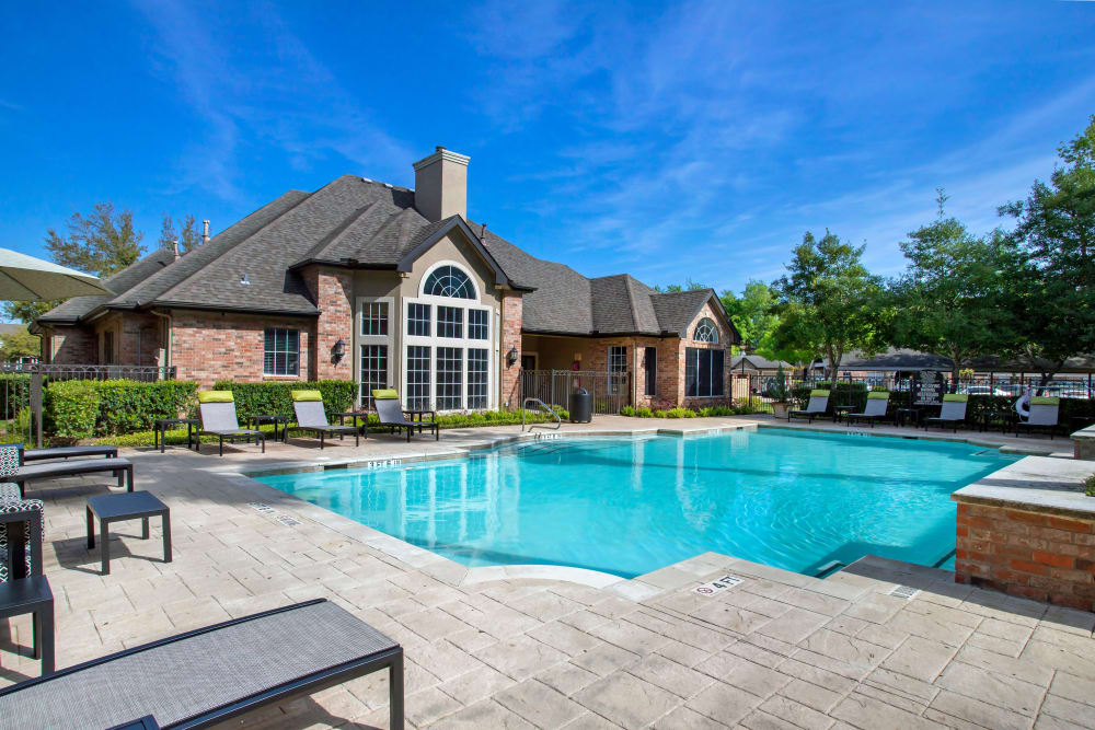 Stunning resort-inspired swimming pool at Regency at First Colony in Sugar Land, Texas