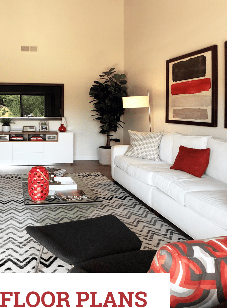 View floor plans at Glenbrook Apartments in Cupertino, California