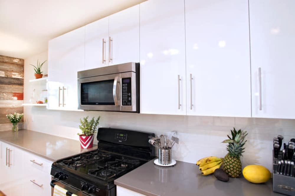 Boylston Crossing Apartment Homes offers a kitchen in Boston, Massachusetts