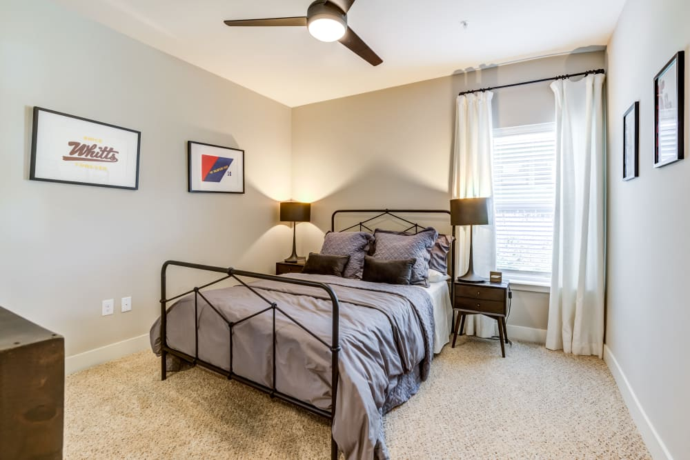 Master bedroom at Rivertop Apartments in Nashville, Tennessee