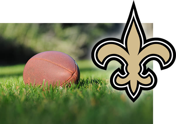 new orleans saints symbol with football