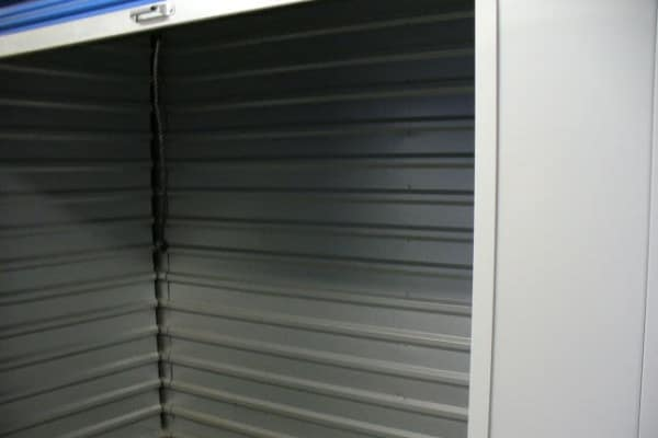 A climate-controlled storage unit at One Stop Storage
