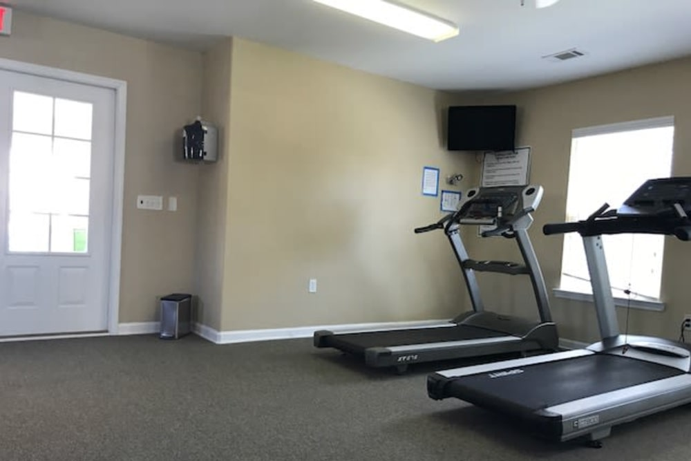 Treadmills at The Village at Mill Creek in Statesboro, Georgia.