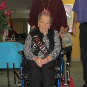 Resident Jane at her Dare to Dream event at Milestone Senior Living Tomahawk in Tomahawk, Wisconsin