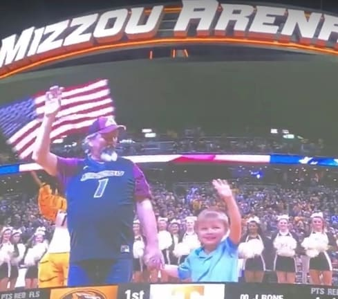 Reed was awarded Hero of the Game at the January 17 MU Tigers basketball game.