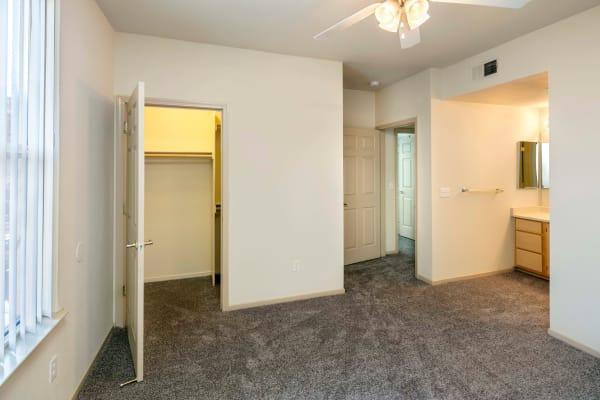Bedroom at Natomas Park Apartments in Sacramento, California