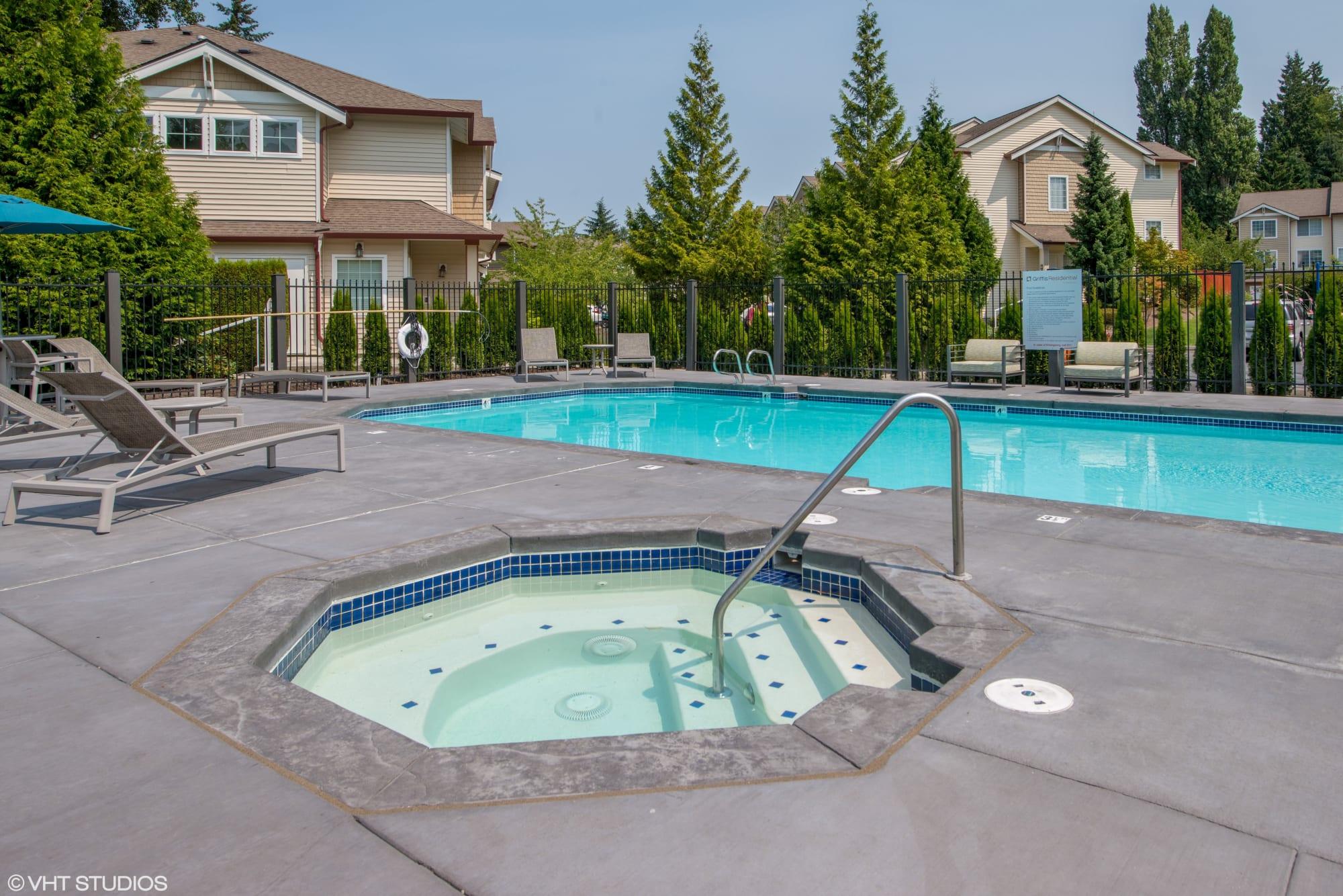 The hot tub at Brookside Village in Auburn, Washington