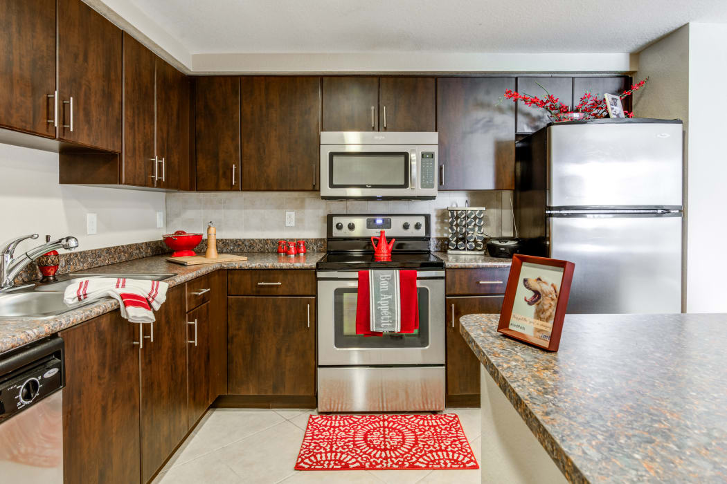 Upgraded kitchen at IMT Miramar in Miramar, Florida