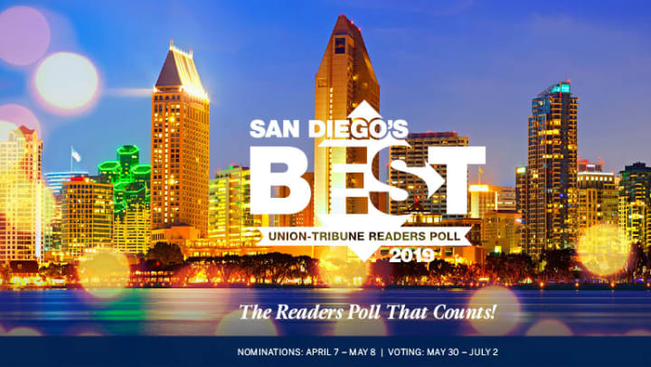 Union Tribune - Best Of 2019 Voting Phase