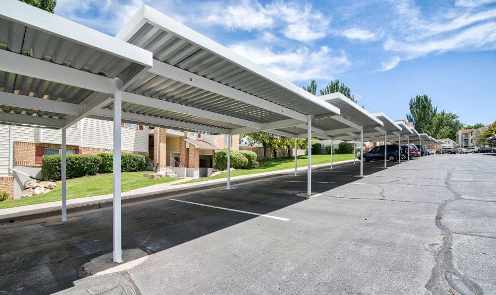 Carports at Cherry Lane Apartment Homes in Bountiful