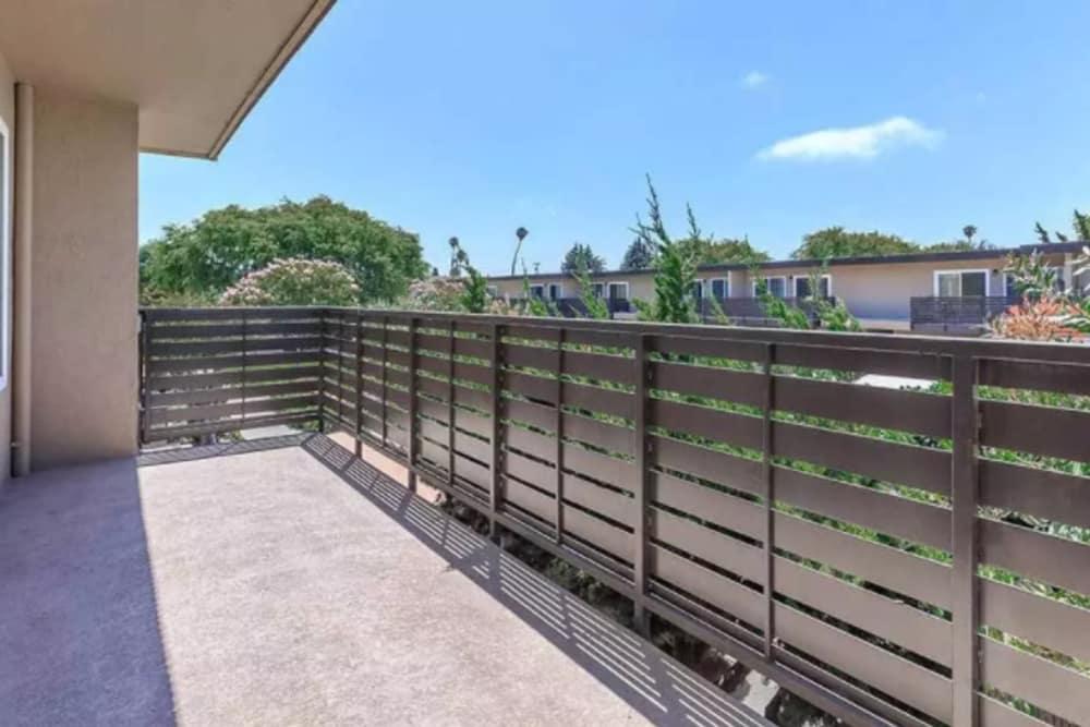 Beautiful balcony at Mosaic Hayward in Hayward, California