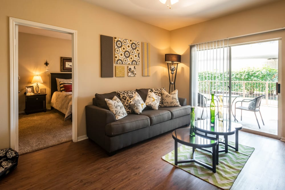 Spacious Living Room at Salado Springs Apartments in San Antonio, Texas