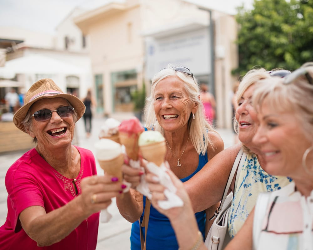 Residents enjoy an ice cream social at Country Meadow Place in Mason City, Iowa.