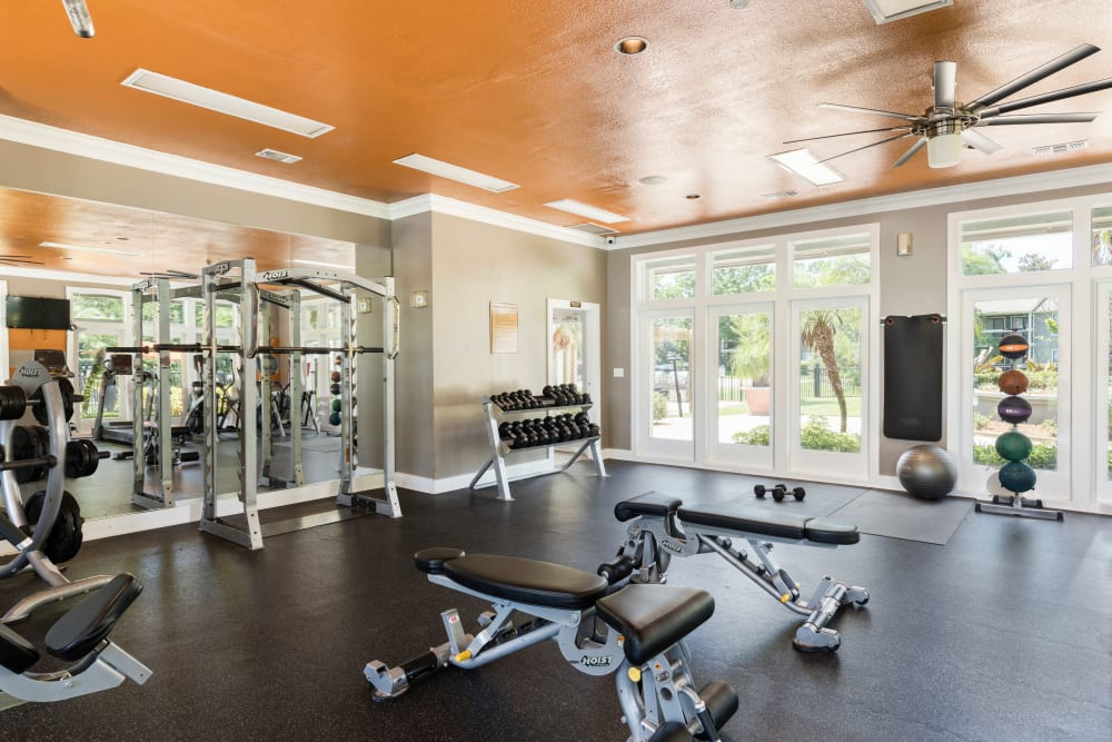 Fitness center at The Fountains at Lee Vista in Orlando, FL