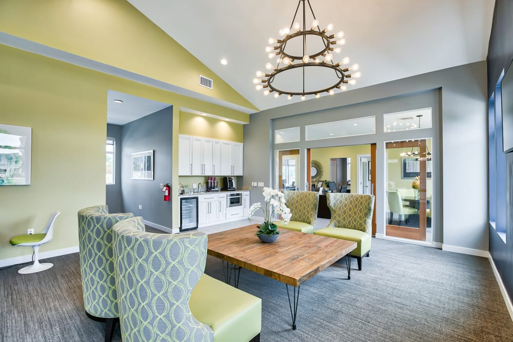 Clubhouse area at Vistas at Stony Creek Apartments in Littleton, Colorado