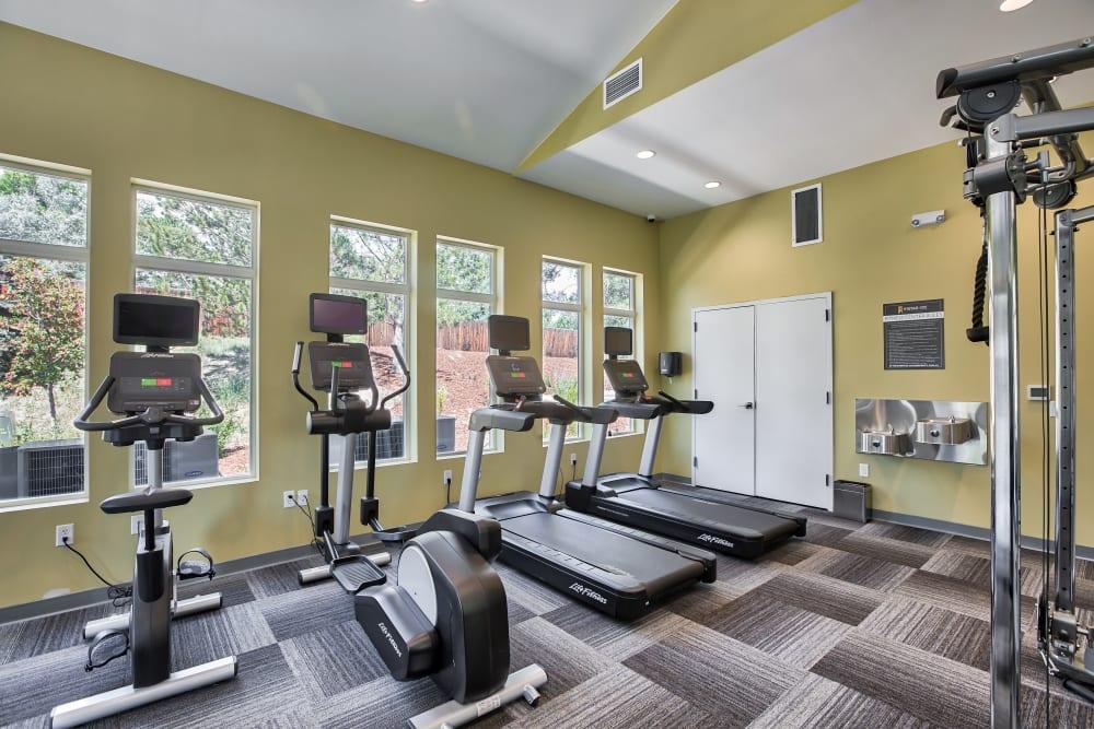 Gym at Vistas at Stony Creek Apartments in Littleton, Colorado