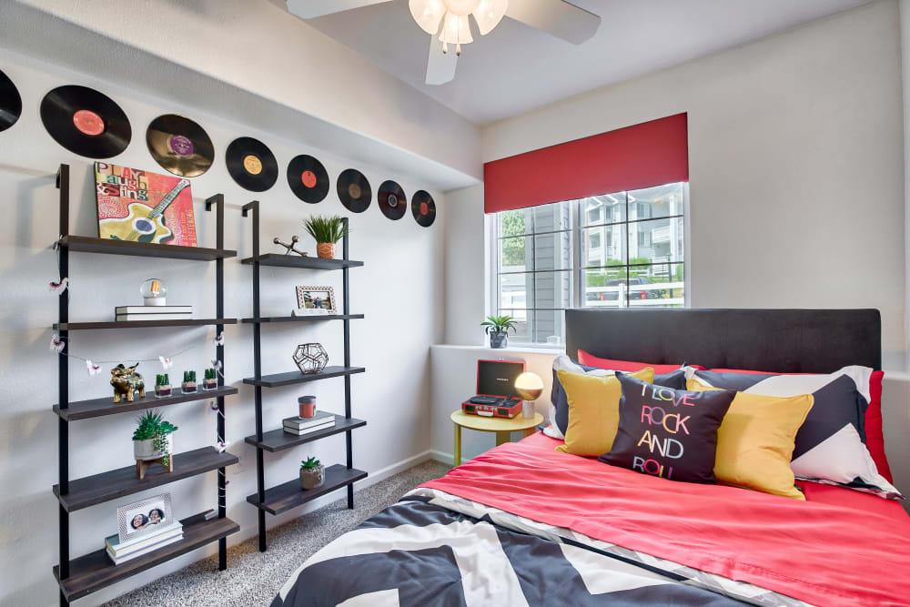 Bedroom at Vistas at Stony Creek Apartments in Littleton, Colorado
