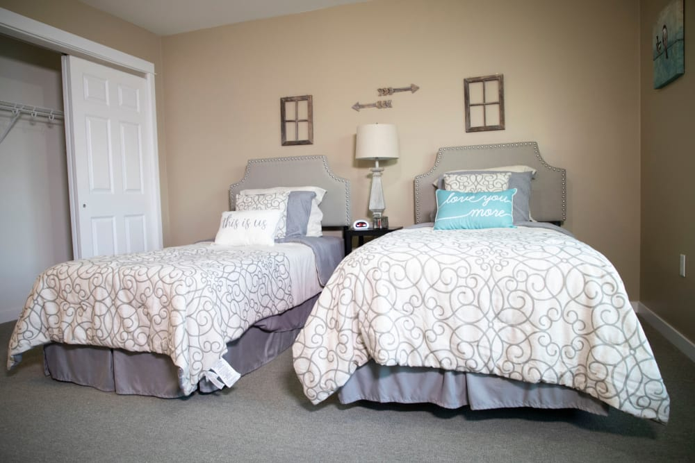 Bedroom at Landings of Huber Heights in Huber Heights, Ohio