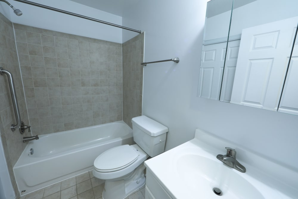 Bathroom at Tamarron Apartment Homes in Olney, Maryland
