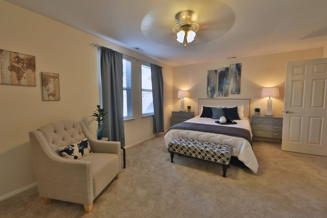 Enjoy apartments with a spacious bedroom at Silver Spring Station Apartment Homes
