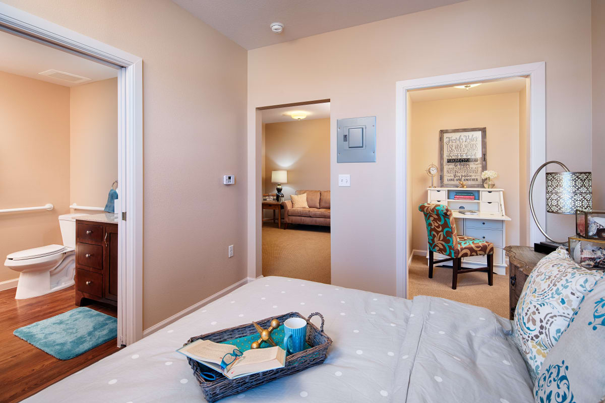 Respite care apartment at The Fountains of Hope in Sarasota, Florida.