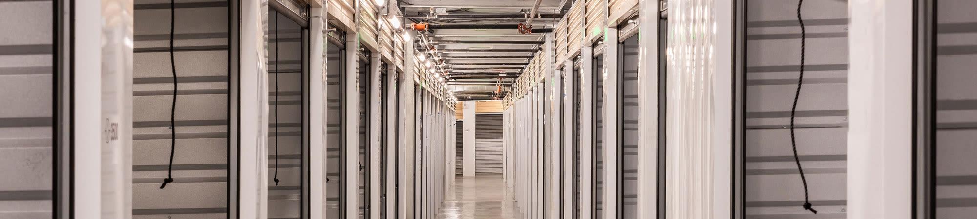 Climate-controlled storage at Cubes Self Storage in Farmington, Utah