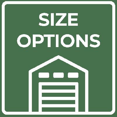 Unit Sizes & Price's graphics at Summit Self-Storage in Driggs, Idaho