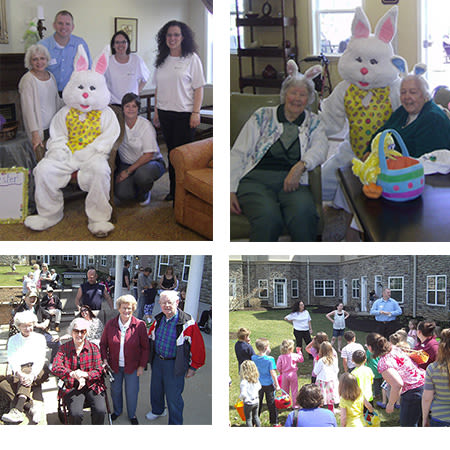 Easter egg hunt at Traditions of Hershey in Palmyra, Pennsylvania