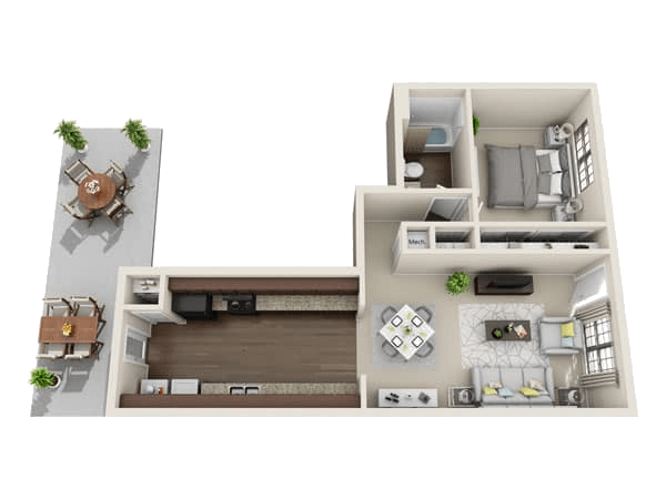 Annapolis floor plan at Villages at Parktown Apartments